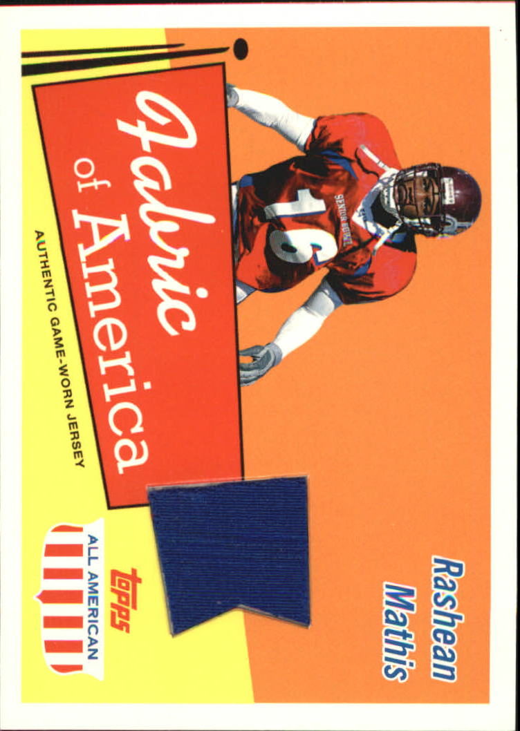 2003 Topps All American Fabric of America #FARM Rashean Mathis B