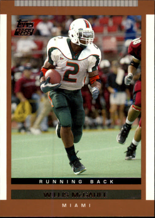 2003 Topps Draft Picks and Prospects #140 Willis McGahee RC