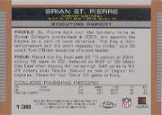 2003 Topps Draft Picks and Prospects Chrome #138 Brian St.Pierre back image