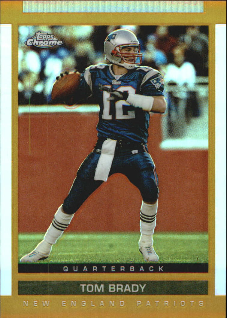 2003 Topps Draft Picks and Prospects Chrome Gold Refractors #55 Tom Brady