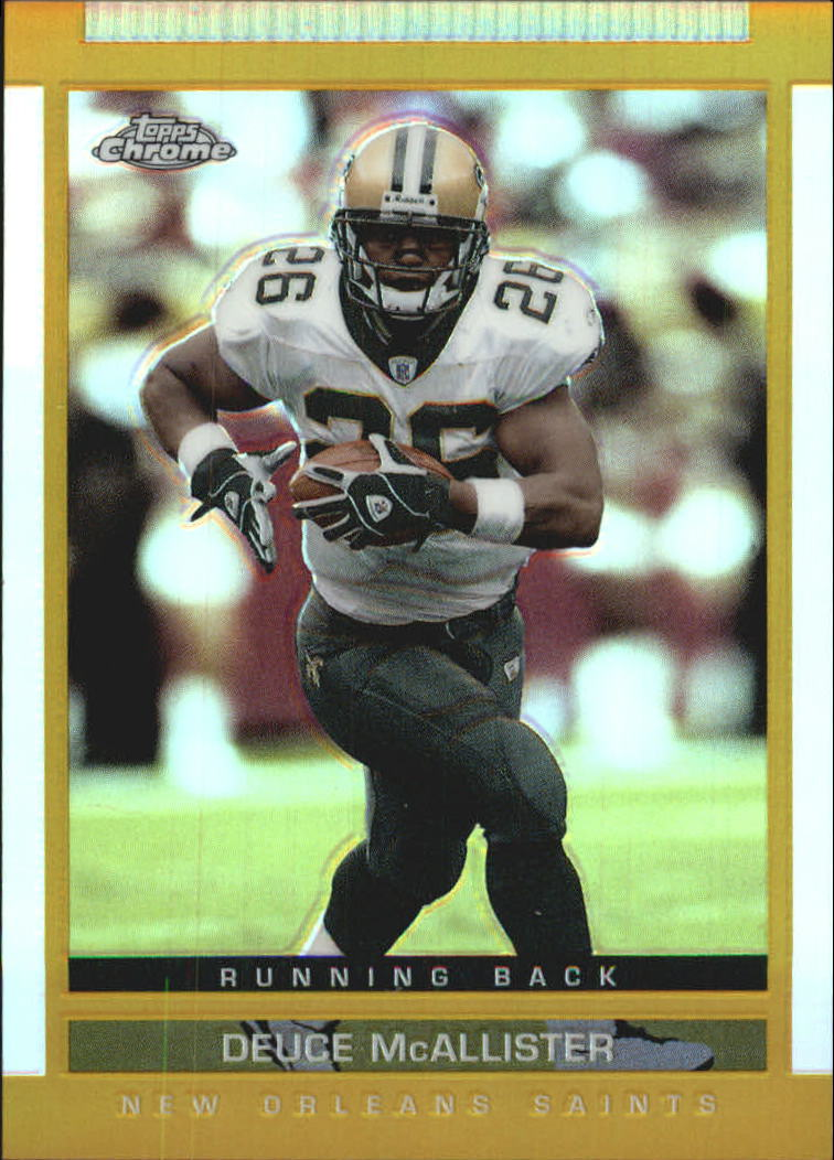 2003 Topps Draft Picks and Prospects Chrome Gold Refractors #103 Deuce McAllister