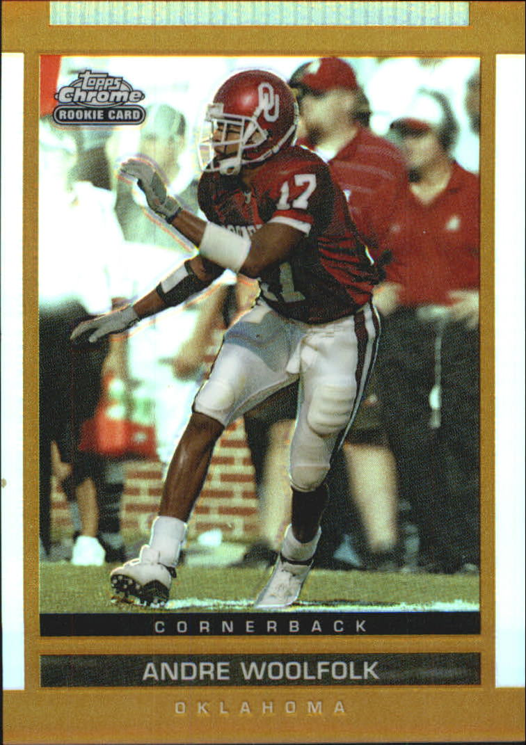 2003 Topps Draft Picks and Prospects Chrome Gold Refractors #155 Andre Woolfolk