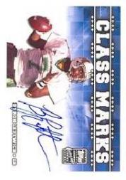 2003 Topps Draft Picks and Prospects Class Marks Autographs #CMBL Byron Leftwich A