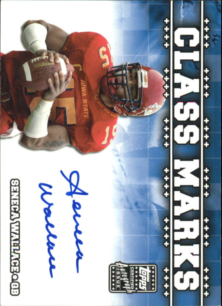 2003 Topps Draft Picks and Prospects Class Marks Autographs #CMSW Seneca Wallace G