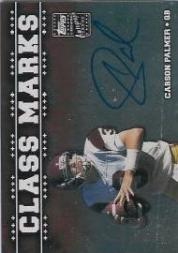 2003 Topps Draft Picks and Prospects Class Marks Autographs Silver #CMCP Carson Palmer
