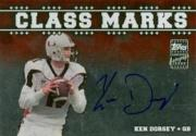 2003 Topps Draft Picks and Prospects Class Marks Autographs Silver #CMKD Ken Dorsey