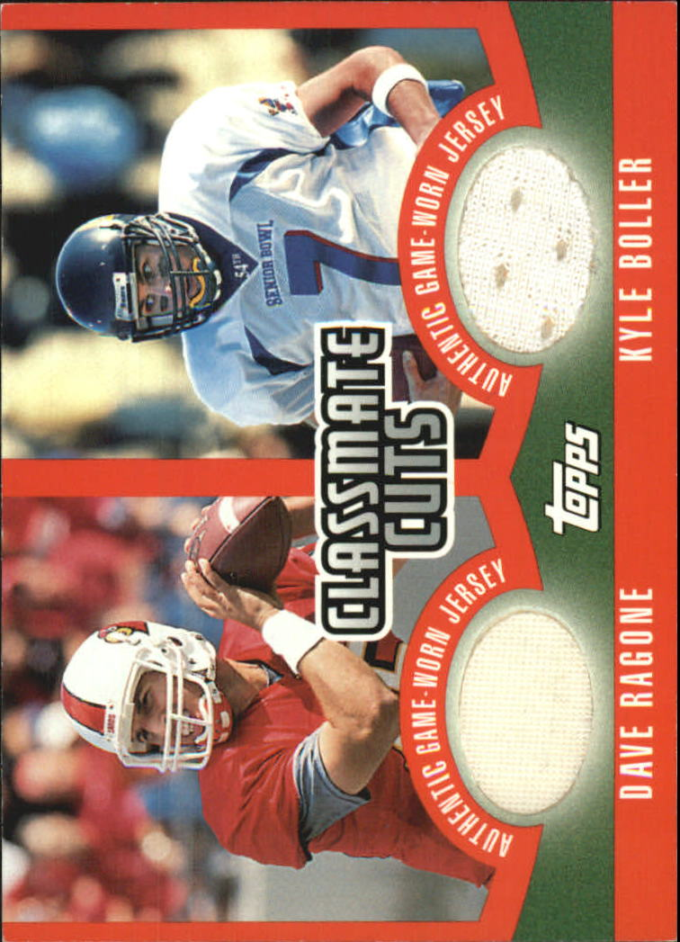 2003 Topps Draft Picks and Prospects Classmate Cuts #CCDRB Dave Ragone/Kyle Boller