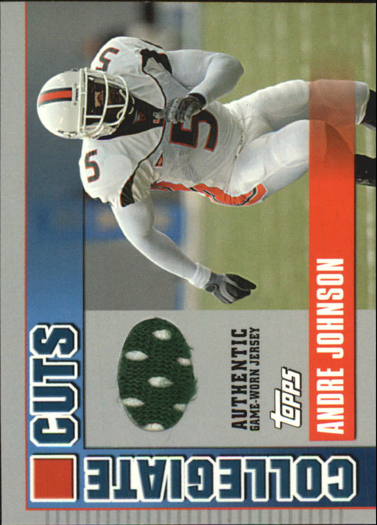 2003 Topps Draft Picks and Prospects Collegiate Cuts #CCAJ Andre Johnson B