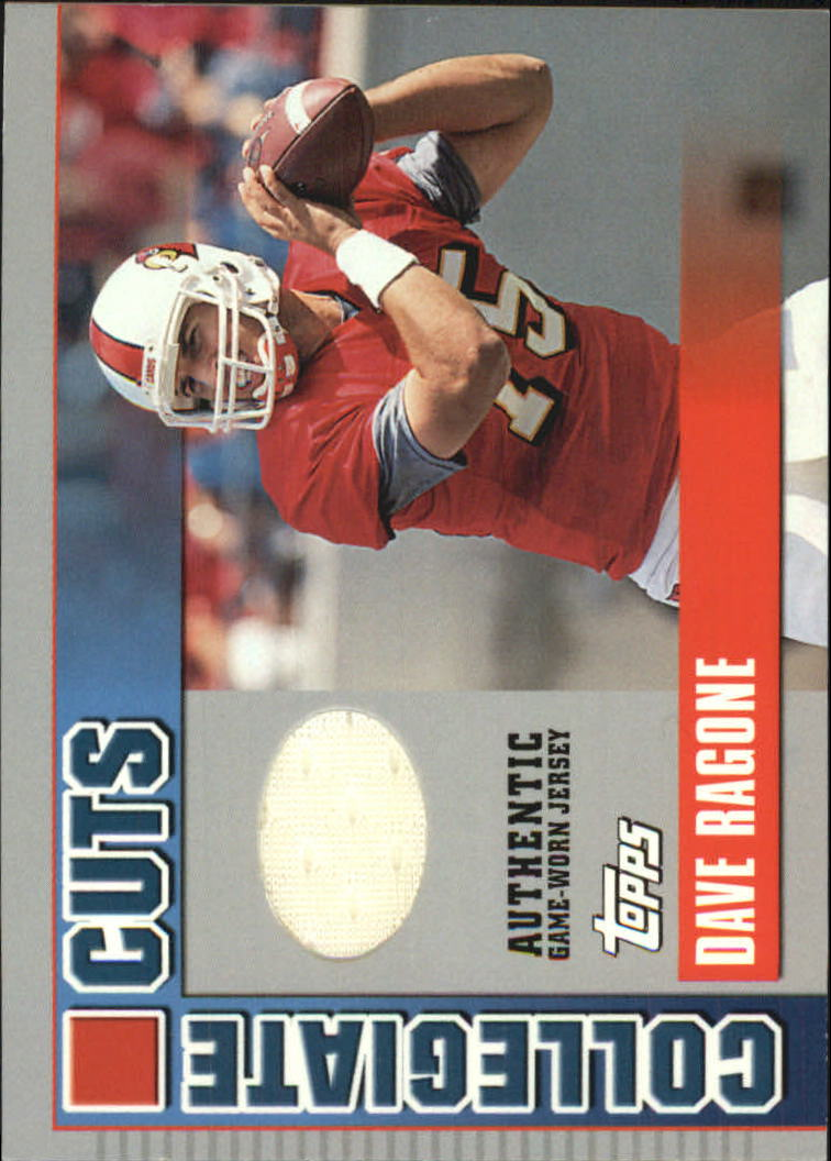 2003 Topps Draft Picks and Prospects Collegiate Cuts #CCDR Dave Ragone F
