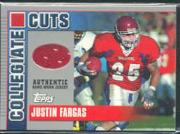 2003 Topps Draft Picks and Prospects Collegiate Cuts #CCJF Justin Fargas D