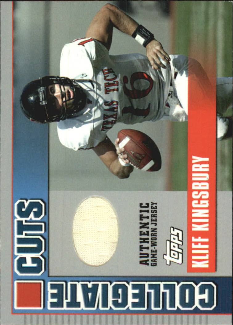 2003 Topps Draft Picks and Prospects Collegiate Cuts #CCKK Kliff Kingsbury A