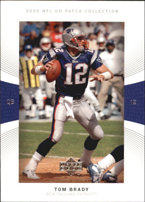 2003 UD Patch Collection #12 Tom Brady