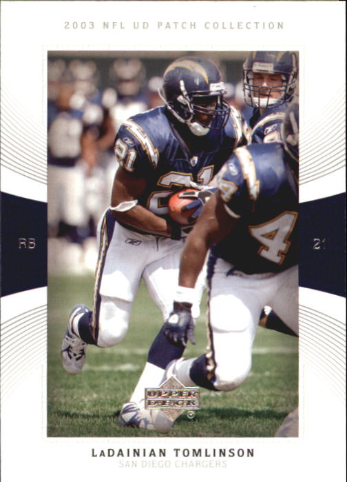 2003 UD Patch Collection #21 LaDainian Tomlinson