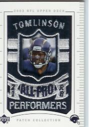 2003 UD Patch Collection #154 LaDainian Tomlinson AP