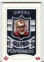 2003 UD Patch Collection #158 Terrell Owens AP