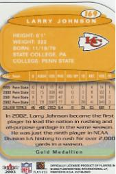 2003 Ultra Gold Medallion #169 Larry Johnson back image