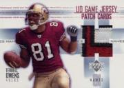2003 Upper Deck Game Jerseys Names #PNATO Terrell Owens