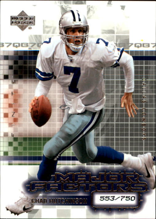 2003 Upper Deck Finite #104 Chad Hutchinson MF