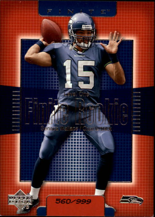 2003 Upper Deck Finite #208 Seneca Wallace RC