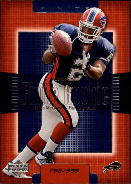 2003 Upper Deck Finite #211 Willis McGahee RC