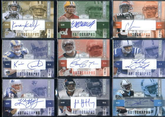 2003 Upper Deck Finite Autographs #KC Kevin Curtis/396