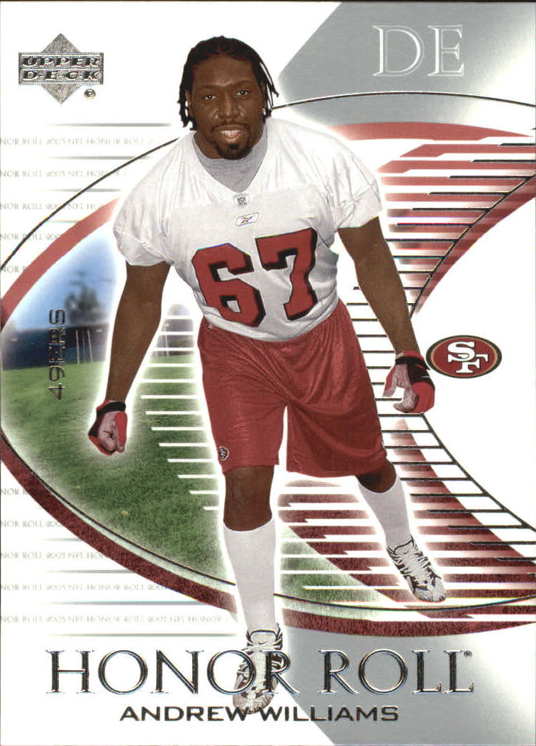 2003 Upper Deck Honor Roll #82 Andrew Williams RC