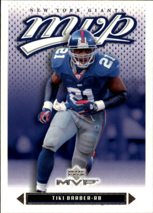 2003 Upper Deck MVP #80 Tiki Barber