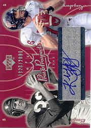 2003 Upper Deck Pros and Prospects #131 Kliff Kingsbury AU RC/Sammy Baugh/2000 front image