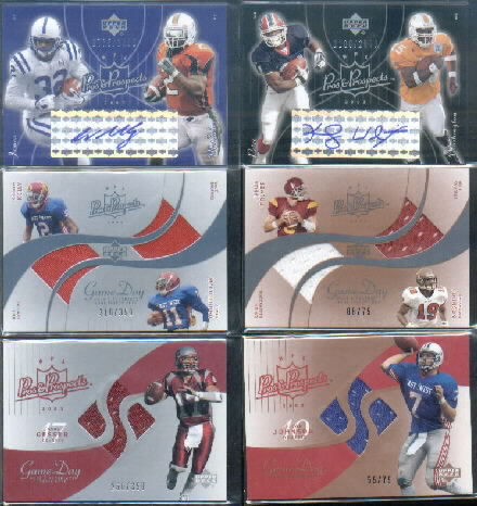 2003 Upper Deck Pros and Prospects #143 Willis McGahee AU RC/Edgerrin James/2000