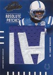 2003 Absolute Memorabilia Absolute Patches #AP8 Edgerrin James