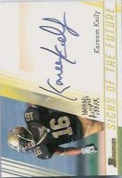 2003 Bowman Signs of the Future Autographs #SFKK Kareem Kelly M