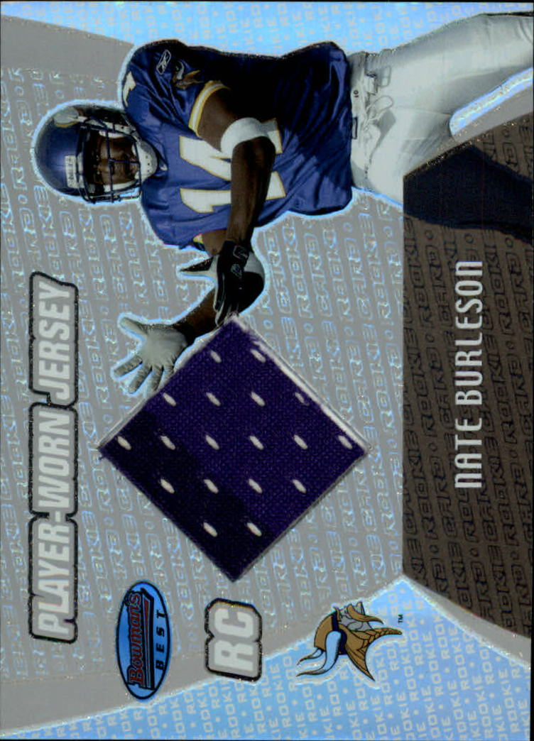 2003 Bowman's Best #102 Nate Burleson JSY RC