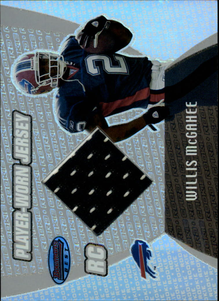 2003 Bowman's Best #110 Willis McGahee JSY RC