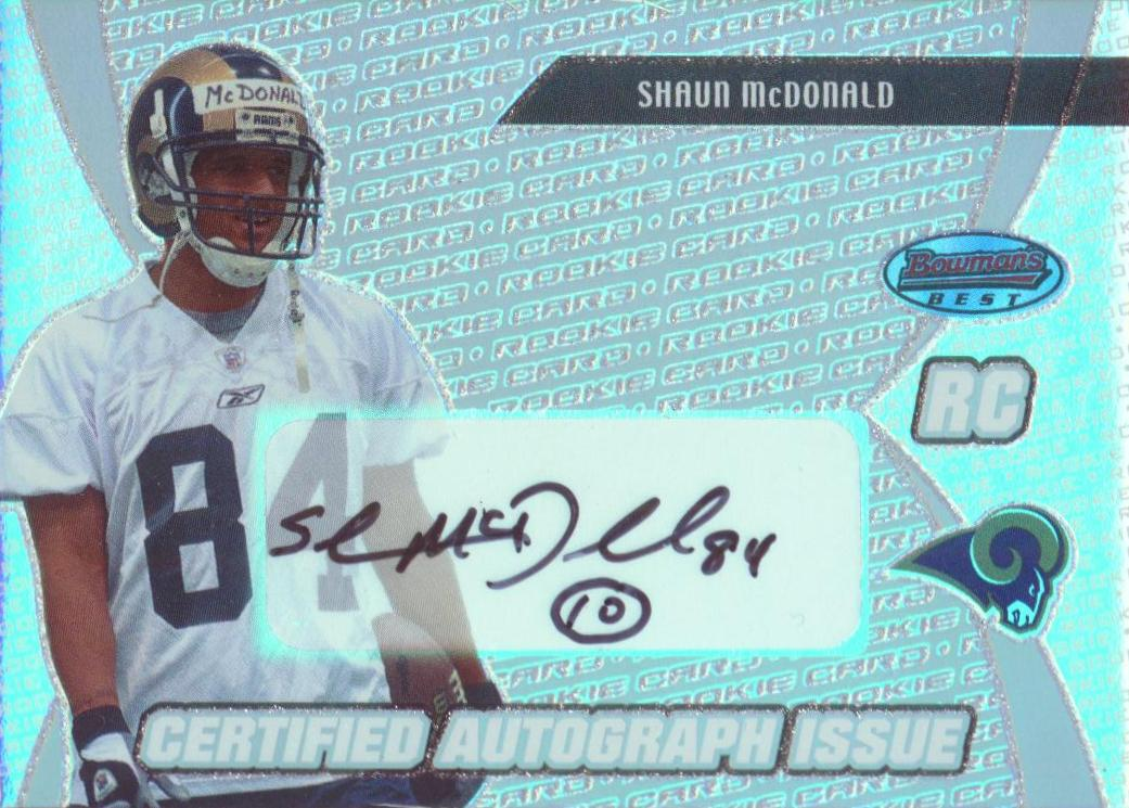 2003 Bowman's Best #123 Shaun McDonald AU RC