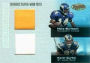 2003 Bowman's Best Double Coverage Jerseys #DCRBC Nate Burleson/Kevin Curtis