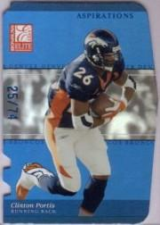 2003 Donruss Elite Aspirations #16 Clinton Portis/74