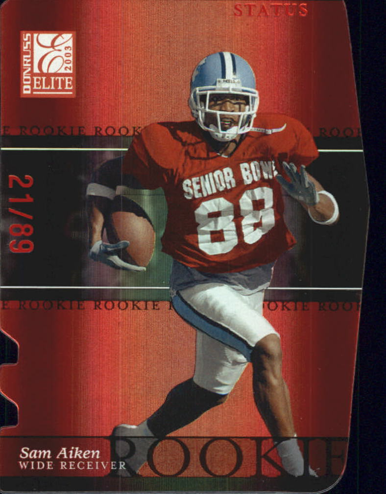 2003 Donruss Elite Status #145 Sam Aiken/89