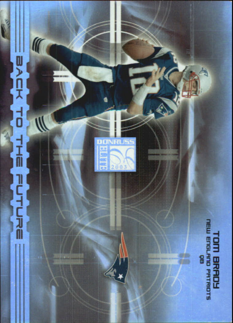 2003 Donruss Elite Back to the Future #BF11 Tom Brady