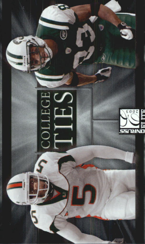 2003 Donruss Elite College Ties #CT11 Santana Moss/Andre Johnson