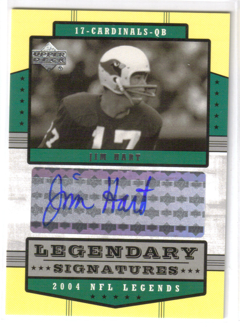 2004 Upper Deck Legends Legendary Signatures #LSHT Jim Hart