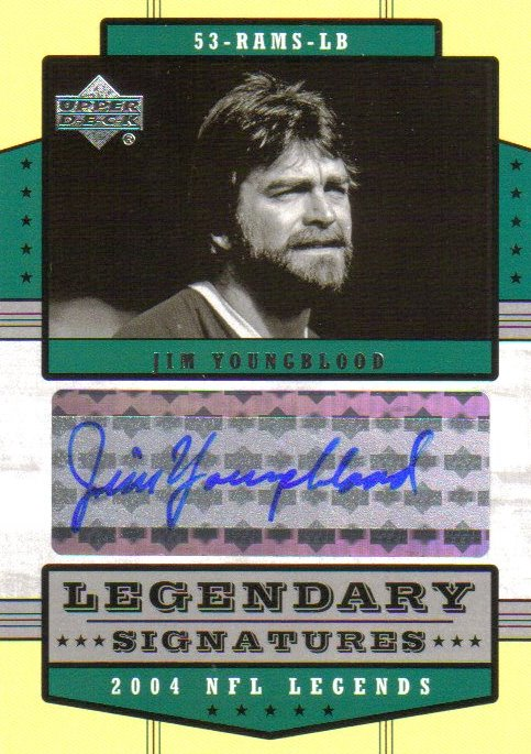 2004 Upper Deck Legends Legendary Signatures #LSJY Jim Youngblood