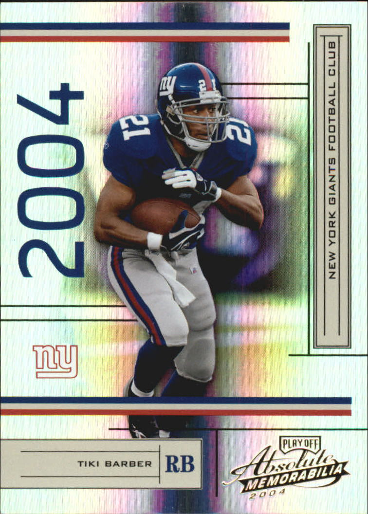 2004 Absolute Memorabilia #94 Tiki Barber