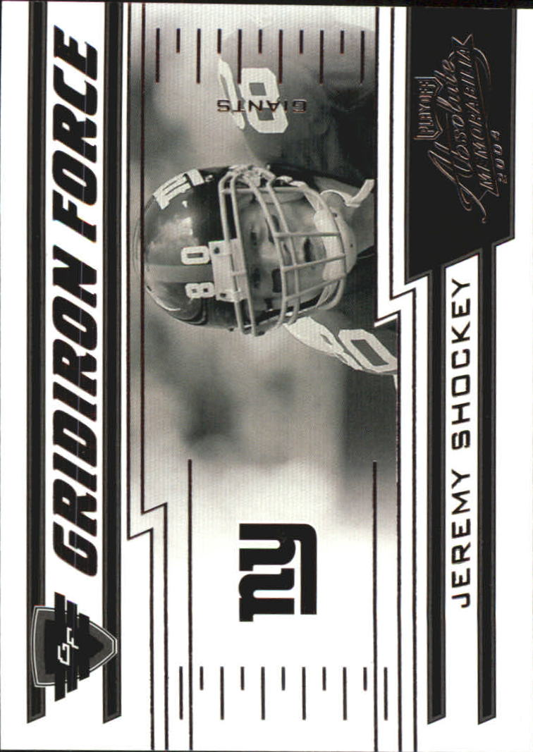 2004 Absolute Memorabilia Gridiron Force #GF16 Jeremy Shockey