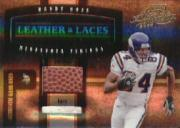 2004 Absolute Memorabilia Leather and Laces Combos #LL17 Randy Moss