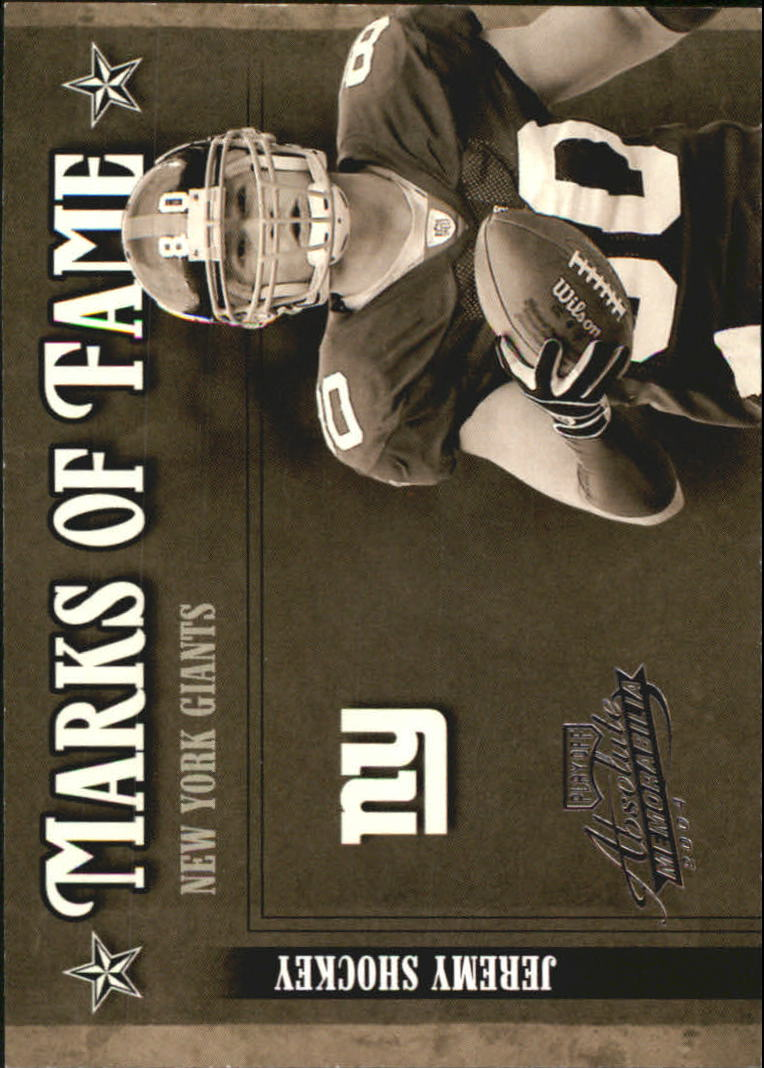 2004 Absolute Memorabilia Marks of Fame #MOF13 Jeremy Shockey