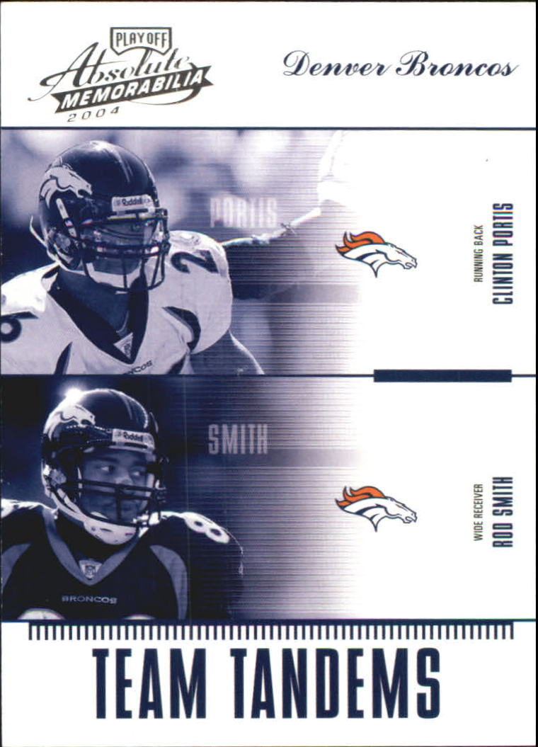 2004 Absolute Memorabilia Team Tandems #TAN6 Clinton Portis/Rod Smith