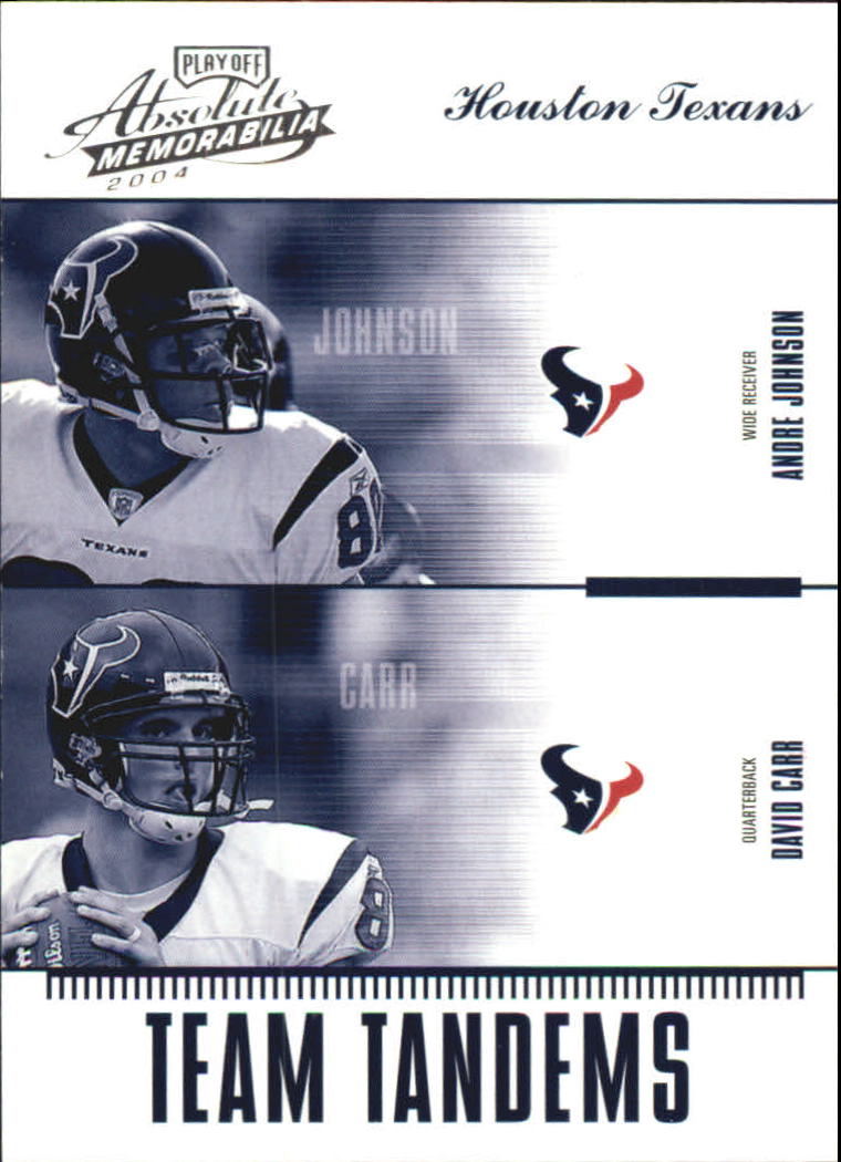 2004 Absolute Memorabilia Team Tandems #TAN9 Andre Johnson/David Carr