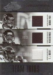 2004 Absolute Memorabilia Team Trios Material #TTR2 Michael Vick/Peerless Price/T.J. Duckett
