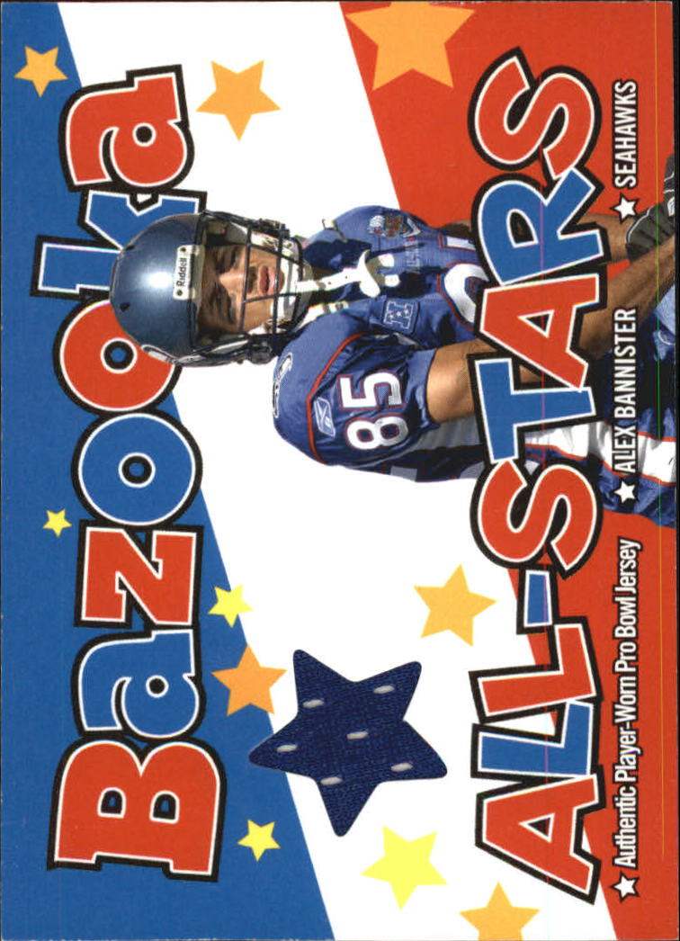 2004 Bazooka All-Stars Jerseys #BASAB Alex Bannister
