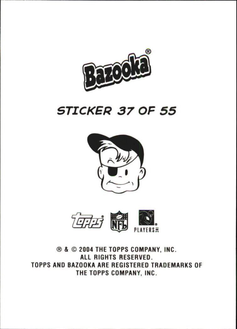 2004 Bazooka Stickers #37 Plaxico Burress/Ashley Lelie/Koren Robinson/Donte' Stallworth back image